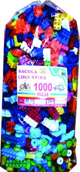 Blocos De Montar 1000 Peças Monte Fácil Poucas Unidades!!!