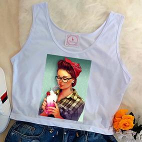 Blusa Feminina Camiseta Regata Cropped Atacado Varejo Barato