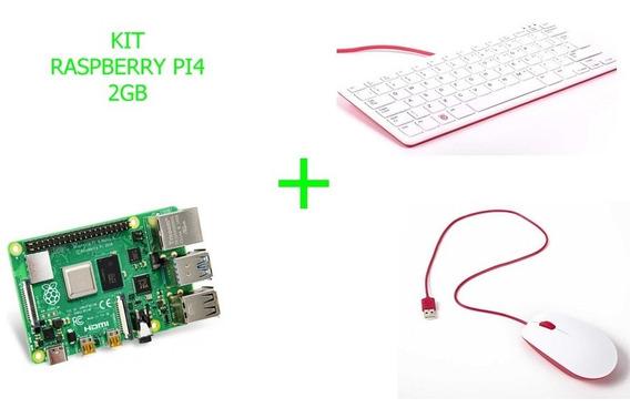 Kit Raspberry Pi 4b 2gb Ram + Teclado + Mouse