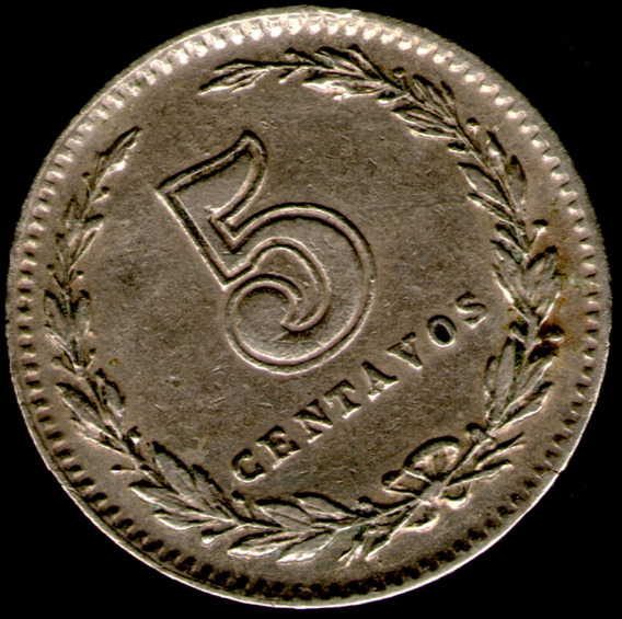 Spg Argentina 5 Centavos 1927