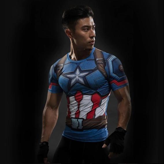Camisa 3d Super Herois Marvel Dc Vingadores Pronta Entrega