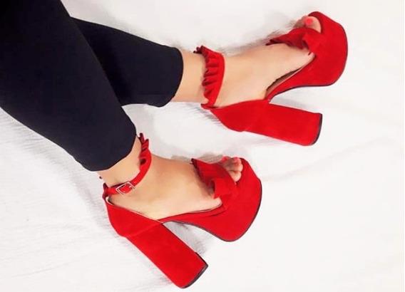 Zapatos Sandalias Mujer Dama Volados Plataforma Fiesta Taco Moda 11