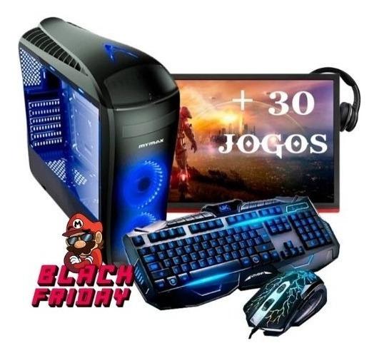 Pc Completo Gamer Monitor19 Wifi 8gb +30 Jogos,black Friday!