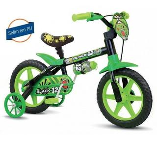 Bicicleta Infantil Nathor Aro 12 Menino Black Pu