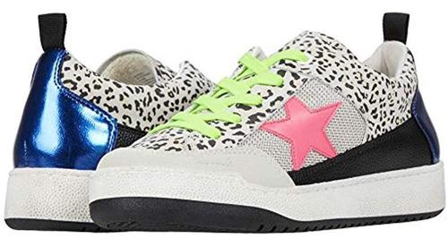 Steve Madden Goody Sneaker Para Mujer, Leopard Multi, 9.5 Us