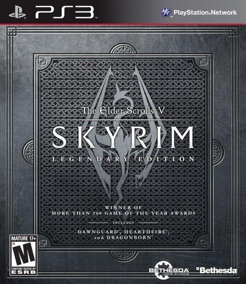 Jogo Skyrim Legendary Edition Playstation 3 Ps3 Frete Grátis