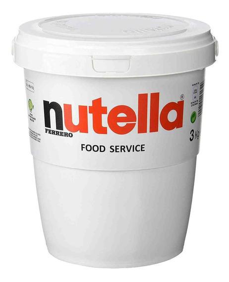 Nutella 3kg Creme De Avelã Ferrero De Balde