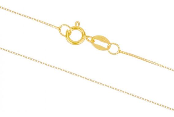 Corrente Feminina Veneziana 40cm Ouro 18k