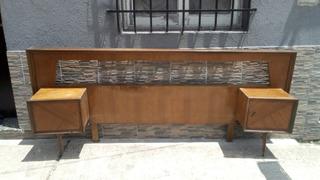 1/2-antiguo Repaldar Cama 2 Plazas Americano Ideal Sommier