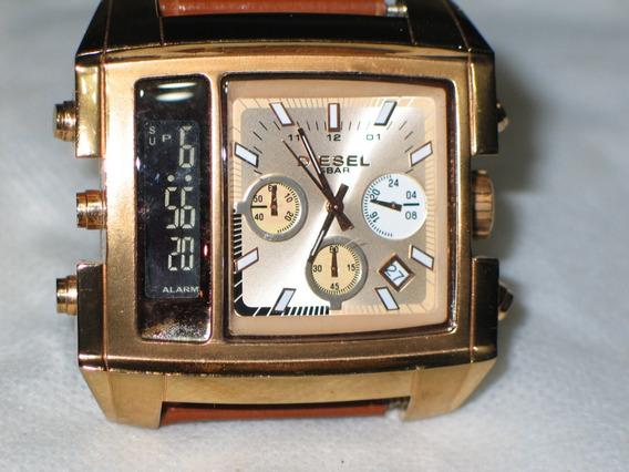 Relógio Diesel Dz7191 Dourado Original Raro Cronografo Digit