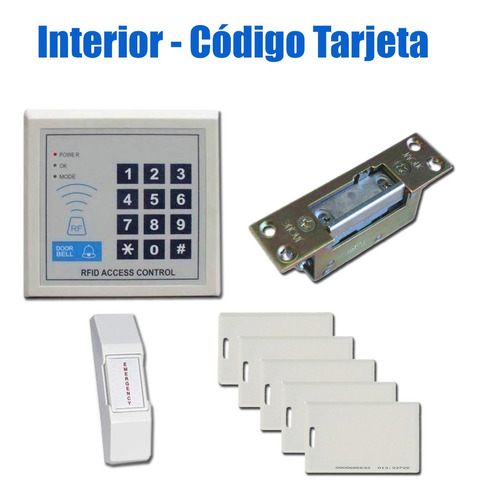 Kit Control Acceso Interior Puerta Tarjeta Codigo