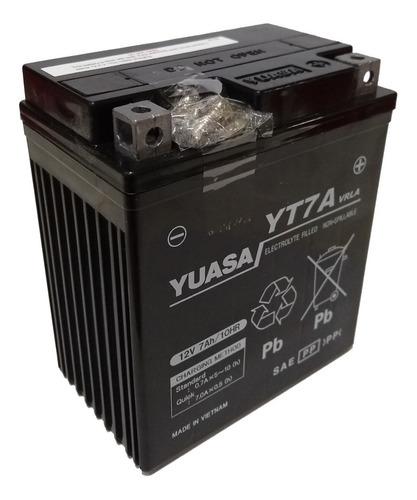 Bateria Yuasa Yt7a = Ytx7l-bs Ybr Xtz Ys 250 Gel Sti Full