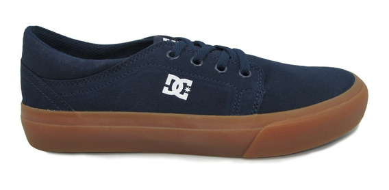 Tenis Dc Shoes Trase Youth Adbs300248 Ngm Navy Gum Piel Gamu