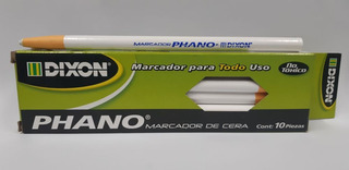 Lápis Dermatográfico Phano Branco Com 10 Unidades