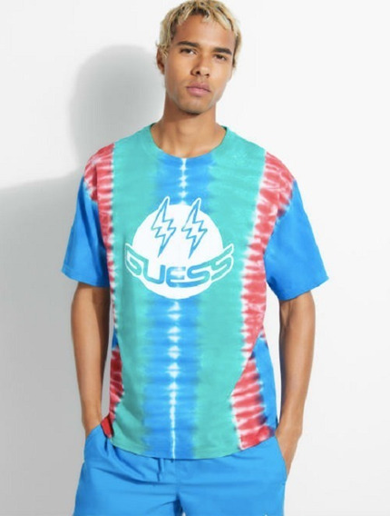 Remera Guess X J Balvin Tie-dye Tee Importada 100% Original