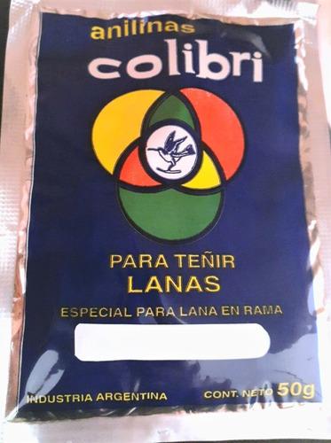 Anilina Colibrí Para Teñir Lana Cruda Color Lacre