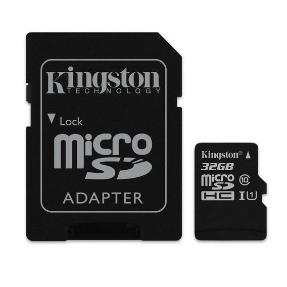 852413890 Kinston Microsdhc 32gb Uhs-i With Sd Sob Encomenda