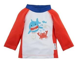 Camiseta Con Filtro Uv 50+! Zoocchini! Diseño Tiburón