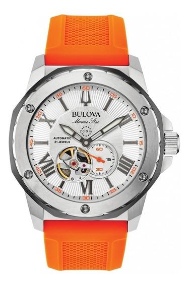 Relógio Bulova Marine Star Automático 200metros 98a226 + Nfe