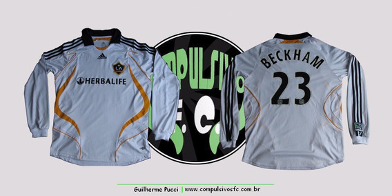 Camisa Los Angeles Galaxy 2007/2008 Home - M - #23 Beckham