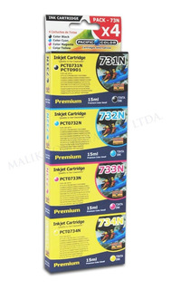 Pack 4 Tintas Epson 731 732 733 734 Cx4900 Cx5500 Tx105 T20