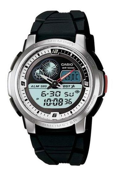Relógio Masculino Anadigi Casio Aqf-102w-7bv - Preto