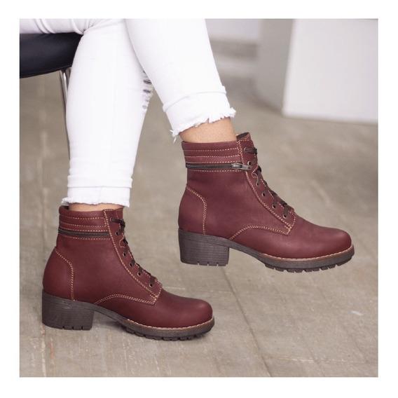 Botines Cuero Dama, Zapatos Cuero Maribu Shoes - Mod #670