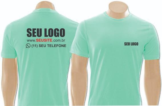 5 Camiseta Uniforme Empresas Personalizada C/sua Logo Marca