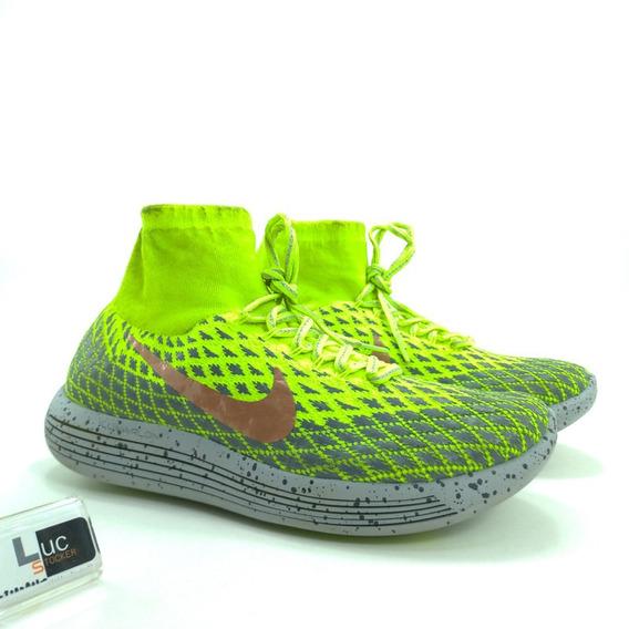 Tênis Nike Lunar Epic Flyknit Mid Verde