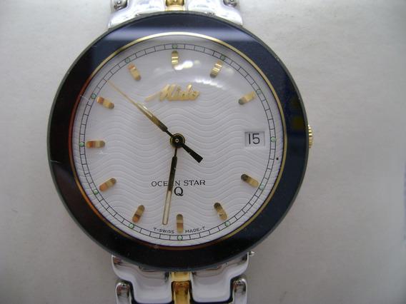 Reloj Mido Ocean Star Extraplano De Cuarzo Vintage