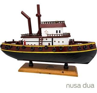 Miniatura Barco Rebocador Trindade 44 - Madeira - Top