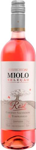 Imagem 1 de 3 de Vinho Miolo Seleção Cabernet/tempranillo Rosé 750ml.