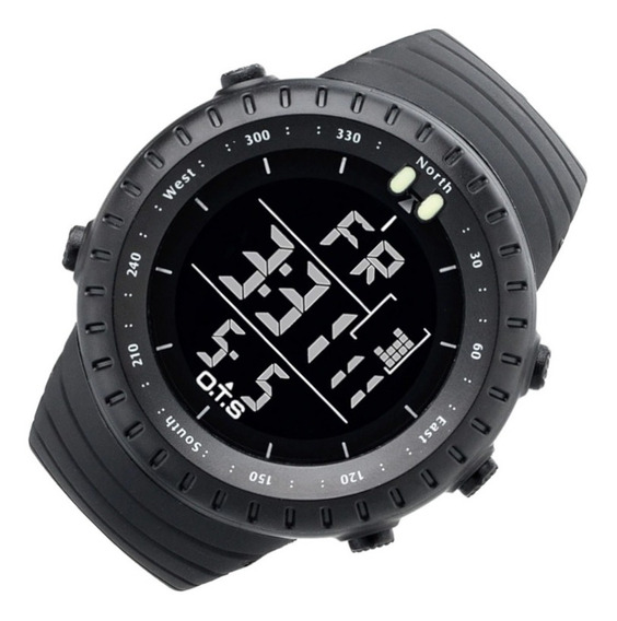 Relógio Masc Ots 7005 Res Água Preto 12x Frete Grátis