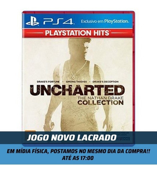 Jogo Uncharted Collection Hits Ps4 Novo Midia Fisica Lacrado