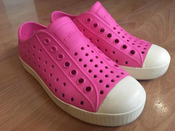 Zapatos Rosas Para Niña Native Talla C12
