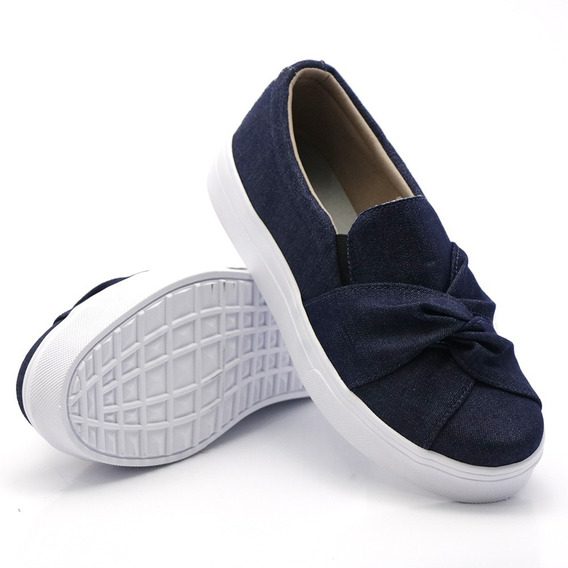 Casual Feminino Nó Moda Slip On Calçe Facil Dk Shoes Barato