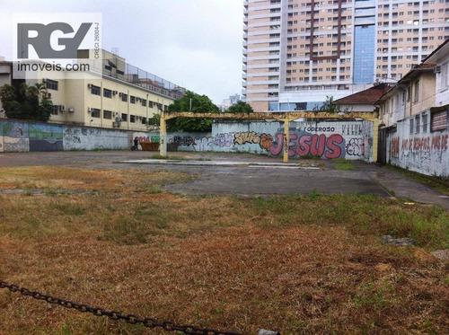 Terreno Comercial À Venda, Vila Matias, Santos. - Te0074