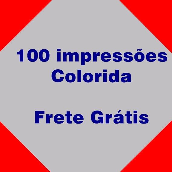 100 Impressão Colorida - Sulfite A4 - Frete Grátis