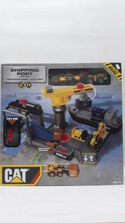 Cat Shipping Port Playset 18 Pzs-escenario De Puerto