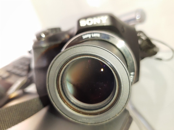 Frete Grátis! Câmera Sony H300 Com 35x De Zoom + Itens