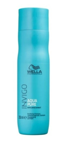 Wella Aqua Pure Shampoo Antirresíduos 250ml C/nf Original