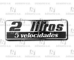 Imagen 1 de 2 de Emblema - 2 Litros (5v) - R-18