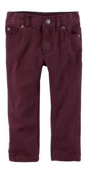 Calça Jeans Infantil Vinho Oshkosh=carters Tamanho 5 Anos