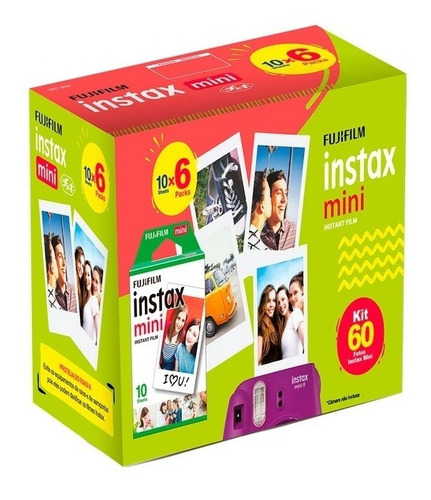 Filme Instax Mini Instant Film 60 Fotos Fujifilm Instax Film
