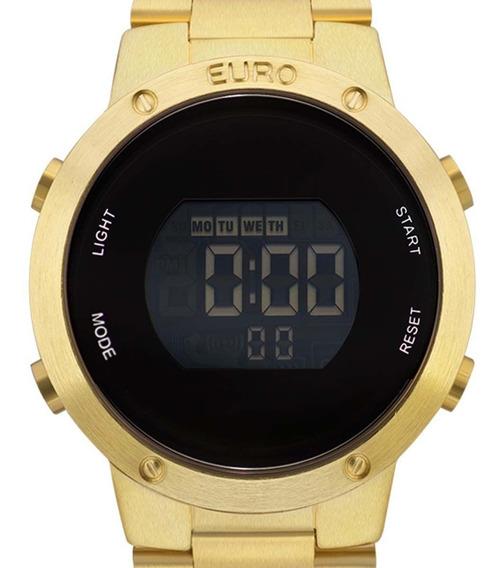 Relógio Euro Digital Feminino Dourado Eubj3279aa/4d + Nfe