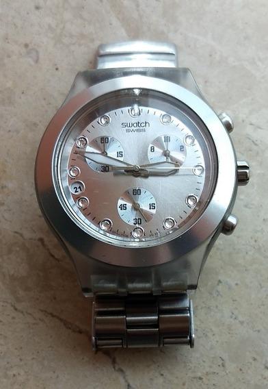 Baixou O Preço! - Relógio Feminino Swatch Prateado