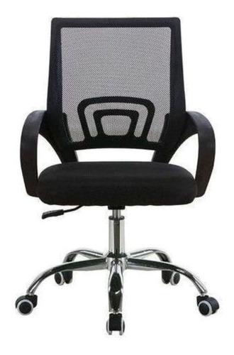 Imagen 1 de 2 de Silla de escritorio Lumax Ezri Mesh  negra con tapizado de mesh