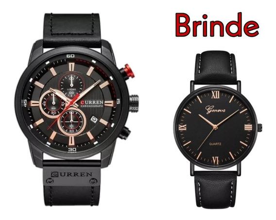 Relógio Masculino Curren Modelo 8291 Preto + Brinde