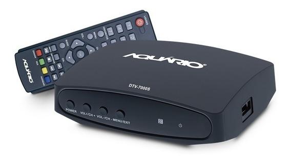 Conversor Digital Dtv-7000s Aquário A Pronta Entrega + Nf