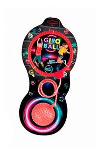 Giro Ball Pelota Soga Con Luz Para Saltar Y Bailar Naranja